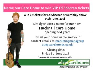 Name our new home to Win VIP Ed Sheeran tickets
