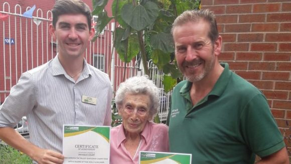 Harriet Sings to Win Sunflower Competition