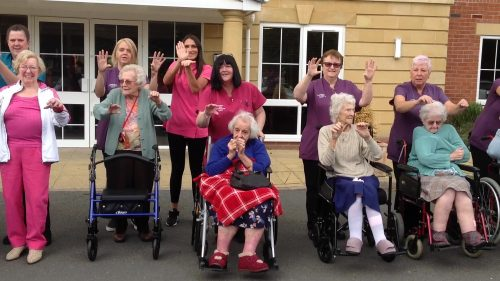 Moat House Care Home Residents Do the Baby Shark