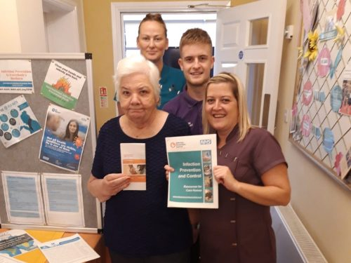 Old Vicarage residents spread the word about infection control