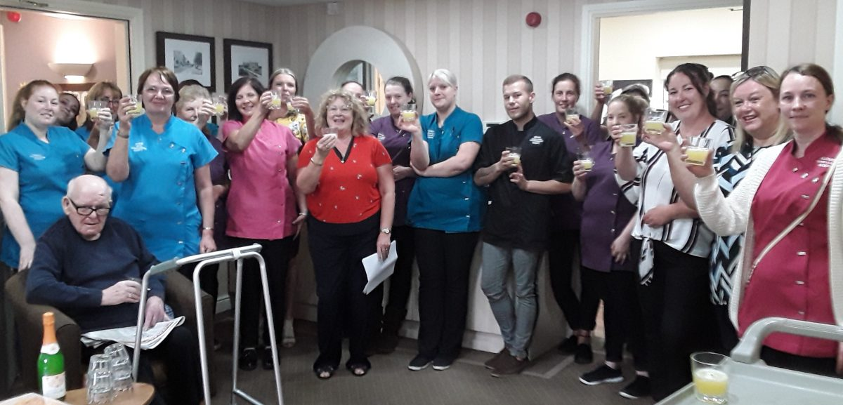 Residents delight as care home rated Good by industry officials