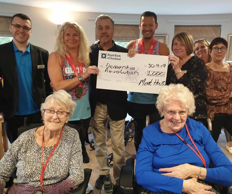 Moat House Donates £1000 to Dementia Charity