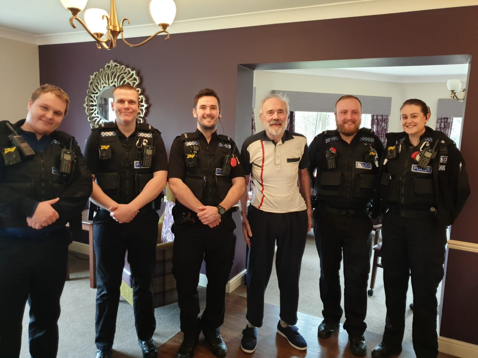 Former policeman, Derek connects with local police force for a 'cell'fie.