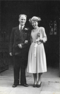 Cliff and Doris on their wedding day