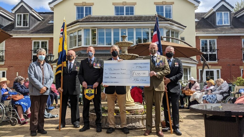 Moat House Salutes Former Resident with Donation to the Royal British Legion