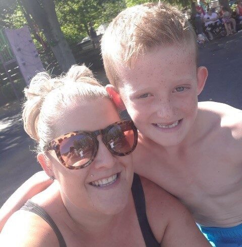 Activities Coordinator, Natalie Smith and her son Olly (9) are 'climbing mountains' to raise funds for the resident's social fund at The Old Vicarage Care Home, Clay Cross.